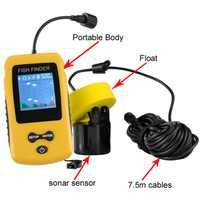 Rastreador de peces con cable profundidad de pesca subacuática cámara de sonido alarma transductor Fishfinder 100 m envío gratis