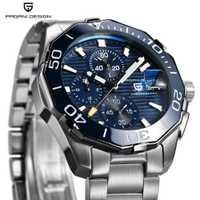 Reloj de hombre de diseño PAGANI de marca de lujo a prueba de agua reloj deportivo de cuarzo cronógrafo de acero para negocios reloj masculino Saat