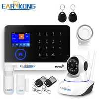 Wifi GSM aplicación RFID Wirelesss gsm seguridad de Casa sistema de alarma táctil teclado 433 Mhz puerta detector sensor de infrarrojos alarma PG-103 W2B