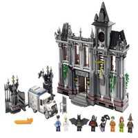 DECOOL 7124 superhéroes Batman Arkham Asylum Breakout figura bloques de construcción juguetes para niños Legoe Compatible