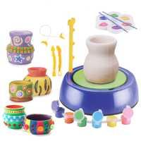 Niños DIY cerámica máquina de arte artesanía modelo juguetes para niñas dibujo juguetes educativos para los niños hechos a mano juguete divertido