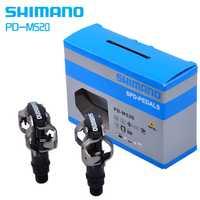 Shimano pedal PD-M520 auto bloqueo haga clic en SPD bicicleta Pedal M520 MTB bicicleta de montaña Padals Original PD22 tacos
