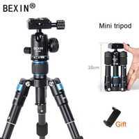 BEXIN M225S de escritorio mini trípode portátil para teléfono auto-temporizador en trípode fotografía de cámara SLR trípode pequeño