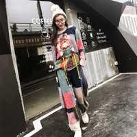 TREND-Setter 2018 primavera nueva moda tejer suéter y pantalones mujeres Set patrón de chica joven y borla pulóvers Casual