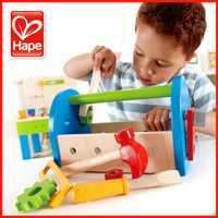 Caja de Herramientas Hape, juguetes educativos para niños, regalo de cumpleaños para niños, juguetes educativos para bebés de 1 a 3 años