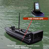 Nuevo cebo de pesca de fibra de vidrio RC barco HYZ-80 2,4G 500M inteligente auto inalámbrico RC alimentador anzuelo de alimentación agregar GPS/Detector de peces