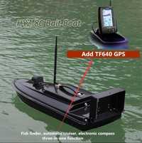Nuevo de fibra de vidrio de pesca RC Barco de cebo de HYZ-80 2,4g 500 m auto inteligente inalámbrico RC de gancho de alimentación nave añadir GPS/pescado/Detector
