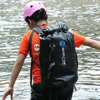 Sac étanche PVC 30L voyage en plein air pliable housse de pluie sac de Trekking plage sac de natation Rafting rivière océan sac à dos