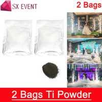 Envío gratis 2 bolsas de polvo de titanio de efecto especial para frío pirotecnia máquina de fuente del material consumible
