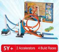 Diecast juguete del rompecabezas DIY 3D REGALOS FESTIVOS tren rápido Montaña Rusa pista ferrocarril eléctrico para educativo montado Juguetes