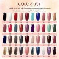 40 piezas Gel UV esmalte de uñas para uñas de Gel UV polaco laca uñas barnices manicura y pedicura, esmalte curado UV lámpara LED