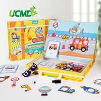 Dessin animé magnétique Puzzle 3D trafic correspondant jeux de Puzzle jouet apprentissage précoce trafic Puzzles jouets éducatifs pour enfant enfants cadeau