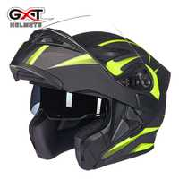 GXT 902 Motorcycly Full Face Helmet hombres mujeres alta seguridad Modular Flip Up Capacete
