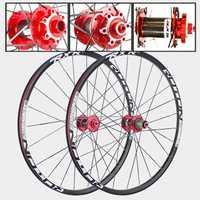 MTB bicicleta de montaña FRONTAL 2 Rear 5 sellado cojinetes de carbono tambor de fibra de Hub 26er 27.5er 29er de freno de disco de la rueda de bicicleta 7/11 de velocidad