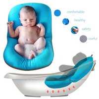 Almohada para bañera de cojín para bebé recién nacido sin deslizamiento almohada de baño flotante tumbona cojín de aire asiento suave de seguridad accesorios de baño infantil