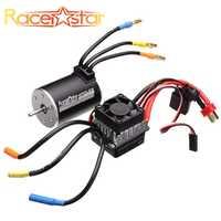 Racerstar 3650 sin sensor sin escobillas Motor impermeable 60A ESC Set para 1/10 Monster 1:10 camión trubgy Cars