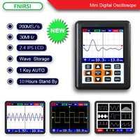 DSO FNIRSI de mano mini portátil osciloscopio digital de 30 m de ancho de banda 200 MSps, tasa de muestreo IPS pantalla