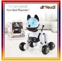 DWI dowellin inteligente mascota electrónica juguete perro robot eléctrico Perros mascotas niños walking cachorro acción Juguetes con gesto de detección