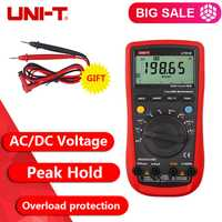 UNI-T UT61A UT61B UT61C UT61D UT61E moderno multímetros digitales RMS valor pico RS232 REL AC DC el amperímetro UT61E verdadero RMS
