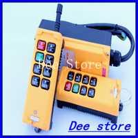 2 transmisores 6 canales One Speed Camión grúa cabrestante Radio Control remoto botón interruptor sistema controlador