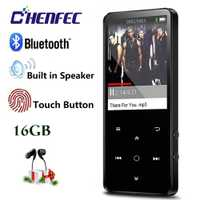 Nuevo alta MP3 Player con Bluetooth altavoz incorporado 16g de sonido sin pérdidas Mp3 reproductor de música 2.4in HD pantalla táctil llaves radio FM