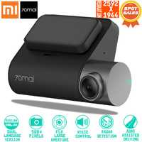 Original 70mai Dash Cam Pro inteligente coche 1944 P grabación de vídeo HD con GPS WIFI función 140 campo de visión (FOV) Cámara inglés control de voz