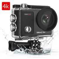 Cámara de Acción Dragon Touch 4 K 16MP go Vision 3 Pro WIFI 100ft Cámara impermeable con pantalla táctil 170°gran angular cámara del deporte Cámara de
