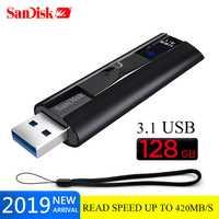 Original SanDisk Extreme PRO USB 3,1 pendrive 128 GB 420 MB/S Memoria usb Flash Drive 128 GB 256GB Pen drive U disco de memoria