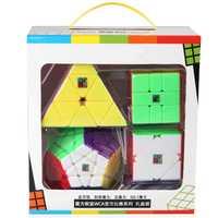 4 pièces/ensemble WCA concours officiel Cube magique coloré Dodecahedron Triangle carré-1 vitesse Puzzle jouet pour enfants cadeau (S8