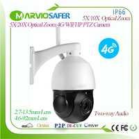 1080 p 4G CCTV PTZ red wifi cámara IP 2MP inalámbrico IPCAM Camara tarjeta SIM 2,7 13,5mm 5X/4,6 92mm lente de Zoom óptico, Onvif