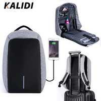 KALIDI viaje mochila portátil 15,6-17,3 pulgadas impermeable antirrobo mochila multifunción Daypack USB 15-17 pulgadas bolsa de la escuela mochilas mochila mujer