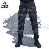 Camuflaje táctico militar uniformes Color protectora Combat Rana pantalones ropa militar hombres ee.uu. caza pantalones Cargo