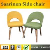 Envío libre U-BEST réplica muebles de diseño Eero Saarinen Silla de comedor silla ejecutiva, tela sin brazos Silla de escritorio