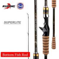 KUYING SuperLite M 2,58 M 2,28 M 2,1 m señuelo de carbono fundido Spinning caña de pescar palo FUJI partes medio acción rápida pescado
