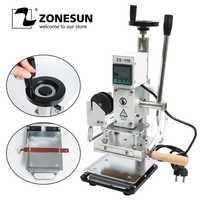 ZONESUN ZS110 slideable de trabajo Digital de estampación en caliente máquina de grabación en relieve de cuero bronceado herramienta de papel de madera DIY artesanía
