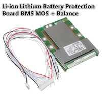 1 PC nueva llegada 20 s Unid s 72 v (84 v) 80A 18650 Li-ion batería de litio tarjeta de protección BMS MOS + Módulo de equilibrio