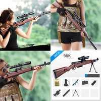 98 K Rifle de francotirador de agua Paintball juguete pistola balas suaves traje para Nerf pistola de juguete PUBG 98 K pistolas de juguete balas traje para pistolas de juguete Nerf