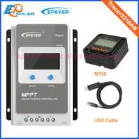 Con MT50 y USB Tracer3210AN MPPT Controlador solar 30A pantalla LCD EPEVER