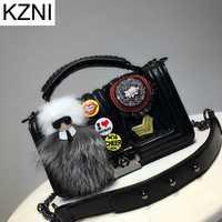 Kzni Cuero auténtico monedero crossbody hombro mujeres bolsa de embrague mujer bolsos SAC a principal Femme DE MARQUE l110612