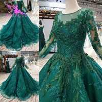 Vestidos de lujo aijinyu con joyas vestidos de la tienda para la boda musulmana Federación Rusa llano más 2019 vestido de novia Taiwán
