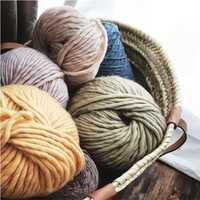 100% hilo de lana a mano punto grueso hilados blanco rosa azul negro colores para suéter 10 kg pequeño toda la venta