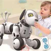 Nueva Programable 2,4g Control remoto inalámbrico Smart Robot perro niños juguete inteligente hablar perro Robot mascota electrónica de juguete kid regalo