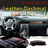 Pour Volvo S80 S80l 2007 2008 2009 2010 2011 cuir Dashmat couverture de tableau de bord empêcher la lumière du soleil Pad Dash Mat CarpetCar Styling