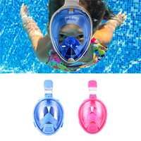 Niños seguro máscara Snorkeling deportes acuáticos buceo natación Snorkel antivaho cara completa niños máscara de buceo