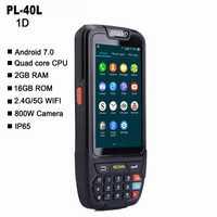 PL-40L pantalla grande 1d bluetooth android escáner de código de barras de pda terminal de datos escáner