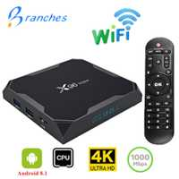 X96 Max TV BOX Android 8,1 Smart Amlogic S905X2 Quad Core 4 GB 64 GB 2,4g y 5 GHz wifi BT 1000 m H.265 4 K Set top box X96Max mini caja