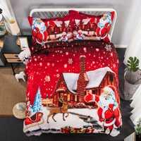 Navidad ropa de cama de dos piezas de regalo de Navidad rojo niño carácter pop XHS0102