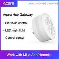 Pasarela Original Mijia Centro aqara con luz nocturna Led trabajo inteligente para Apple Homekit, pasarela de edición internacional