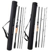 De Viaje de carbono girando de señuelo Rod 2,1 de 2,4 a 2,7 m 3 m M 4 secciones barras vara de pesca de la carpa caña de pescar