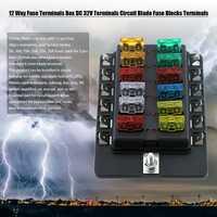 2 piezas 12 vías fusible terminales DC caja 32 V terminales circuito fusible bloques terminales